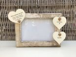 Shabby personalised Chic Photo Frame In Memory Of Dad ~ Father ~ Daddy Any Name - 253965299413